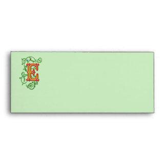 Letter E Alphabet Vines Envelope