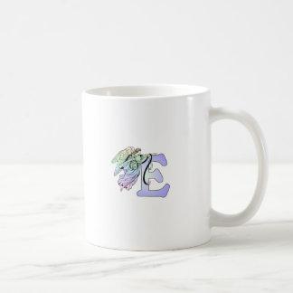 Letter E angel monogram alphabet initial blue and Coffee Mug