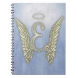 Letter E Angel Monogram Note Book
