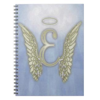 Letter E Angel Monogram Notebook
