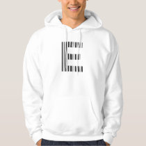 LETTER E BAR CODE First Initial Barcode Pattern Hoodie