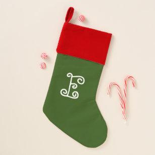 letter e christmas stocking