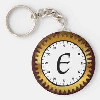 Letter E Clockwork Keychain