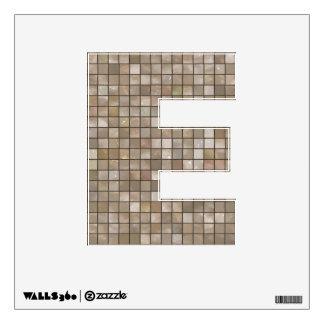 "Letter "" E "" Decal - Tan Bathroom Tile"