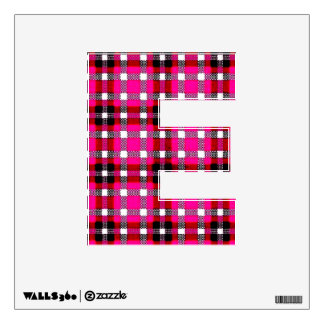 letter E emo punk college rock  pink and red Wall Sticker