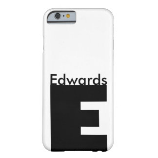 Letter E Gill font Barely There iPhone 6 Case