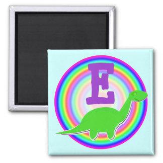 Letter E Green Dinosaur Diplodocus Fridge Magnet