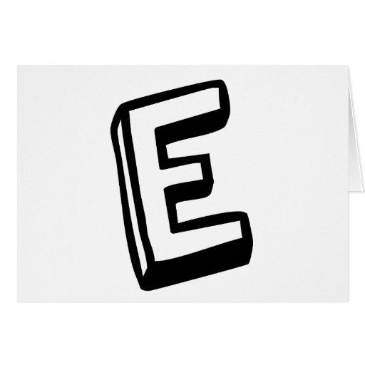 Letter E Greeting Card
