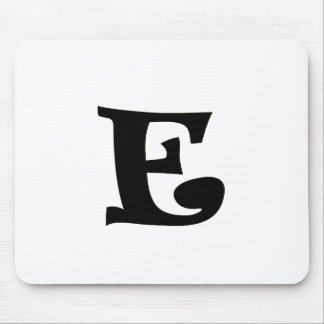 Letter E_large Mouse Pad