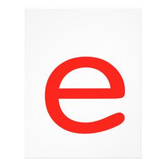 Letter e letterhead
