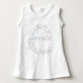 Letter E Monogram Baby Sleeveless Dress