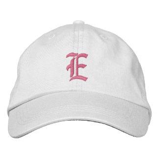 Letter E Monogram Embroidered Hat