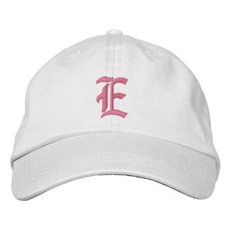 Letter E Monogram Embroidered Hat