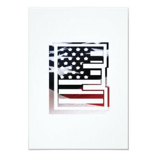 Letter E Monogram Initial USA Flag Pattern Card