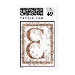 letter E monogram Stamps