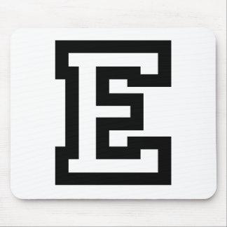Letter E Mouse Pad