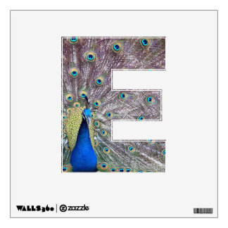 Letter E of Jesus Peacock Wall Decal