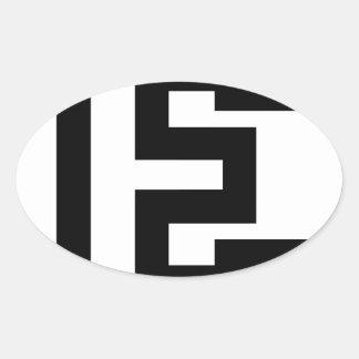 Letter E Oval Sticker