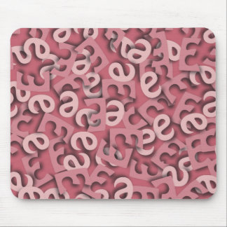 Letter E Pink Mouse Pad