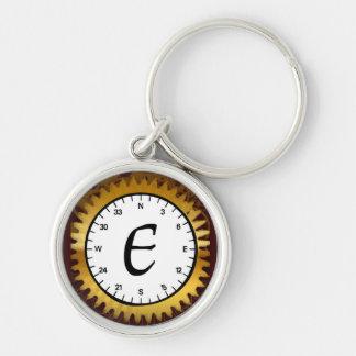 Letter E Premium Clockwork Keychain