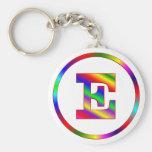 Letter E Rainbow Keychains