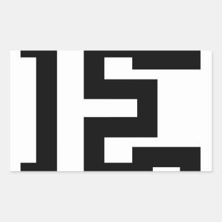 Letter E Rectangular Sticker