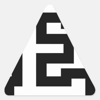 Letter E Triangle Sticker