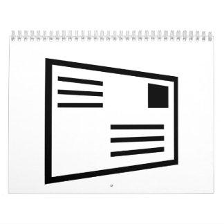 Letter envelope postcard calendar