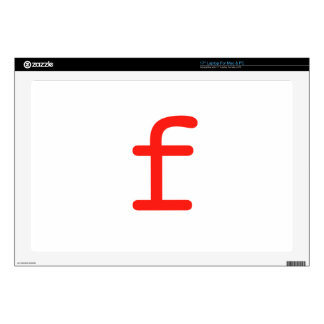 "Letter f 17"" laptop decal"
