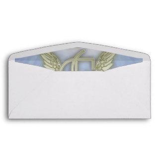 Letter F Angel Monogram Envelope