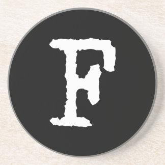 Letter F Beverage Coaster