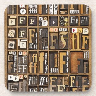 Letter F Coasters