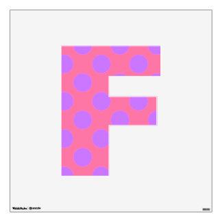 letter F cute kawaii polka dots shabby chic medium Wall Sticker