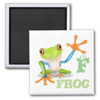 Letter F for Frog Children's Magnet