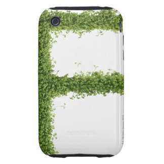 Letter 'F' in cress on white background, Tough iPhone 3 Case