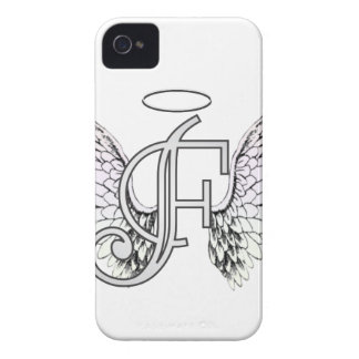 Letter F Initial Monogram with Angel Wings & Halo Case-Mate iPhone 4 Case
