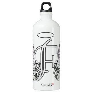 Letter F Initial Monogram with Angel Wings & Halo SIGG Traveler 1.0L Water Bottle