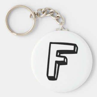 Letter F Key Chains