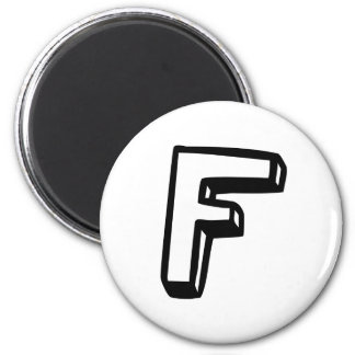 Letter F Magnet