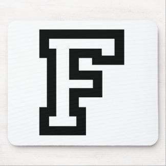 Letter F Mouse Pad