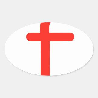 Letter f oval sticker