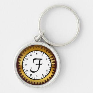 Letter F Premium Clockwork Keychain