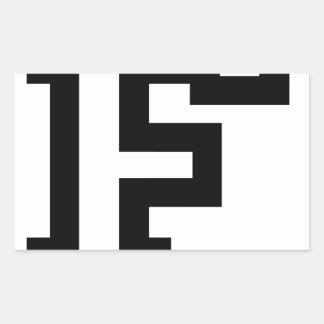 Letter F Rectangular Sticker
