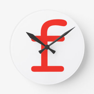 Letter f round clock
