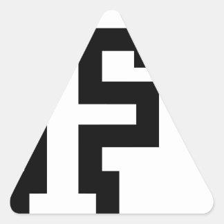 Letter F Triangle Sticker
