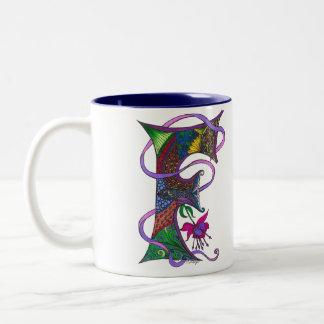 Letter F Two-Toned Coffee Mug