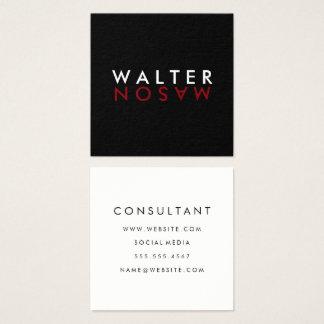 Letter Flip Square Business Card