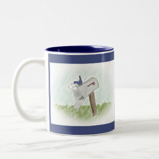 Letter from a Bluebird Customizable Mug