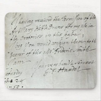 Letter from George Frederick Handel Mouse Pad