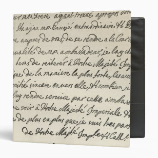 Letter from George I to Charles VI 3 Ring Binder